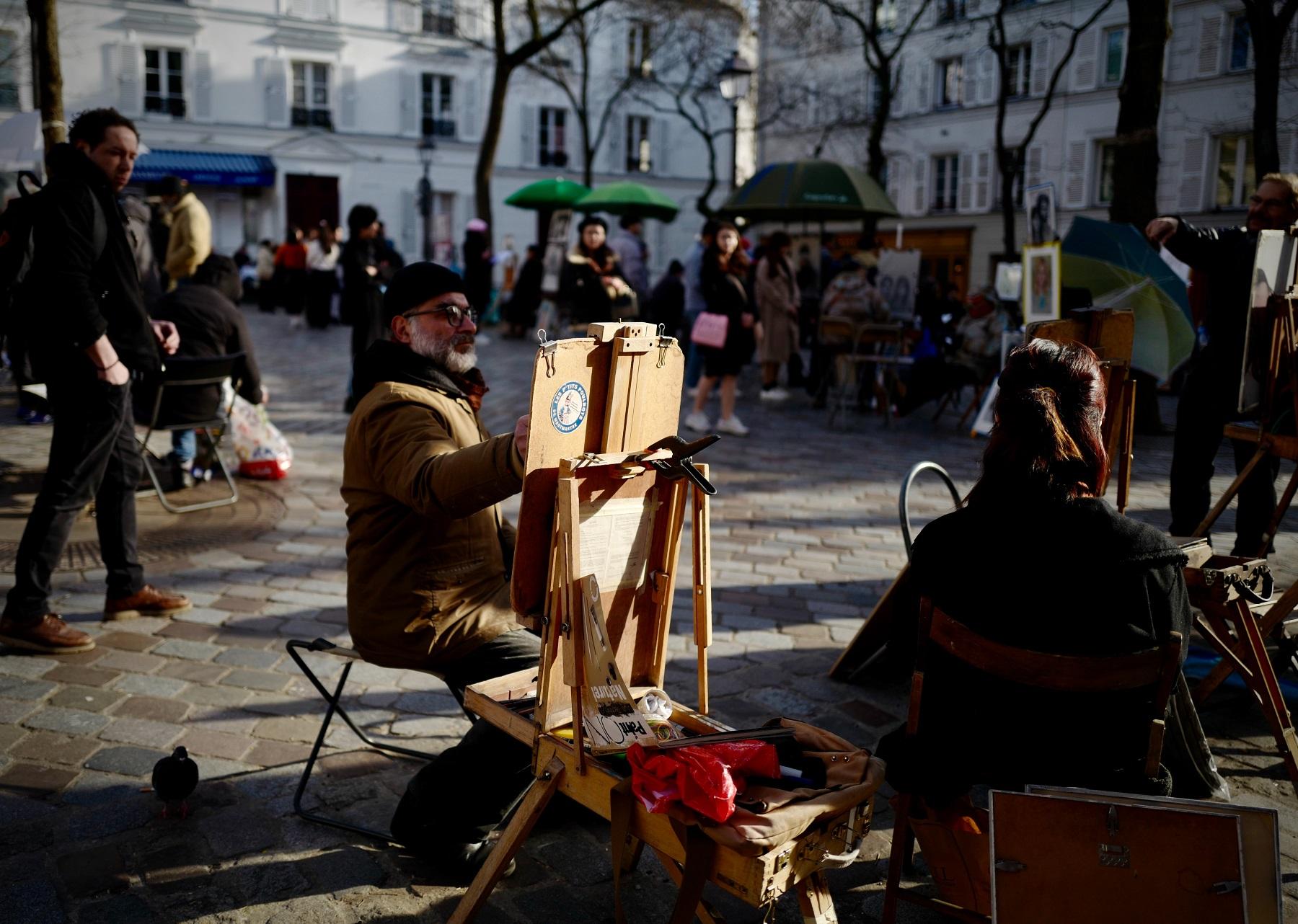 Place du Tertre Montmartre, Paris